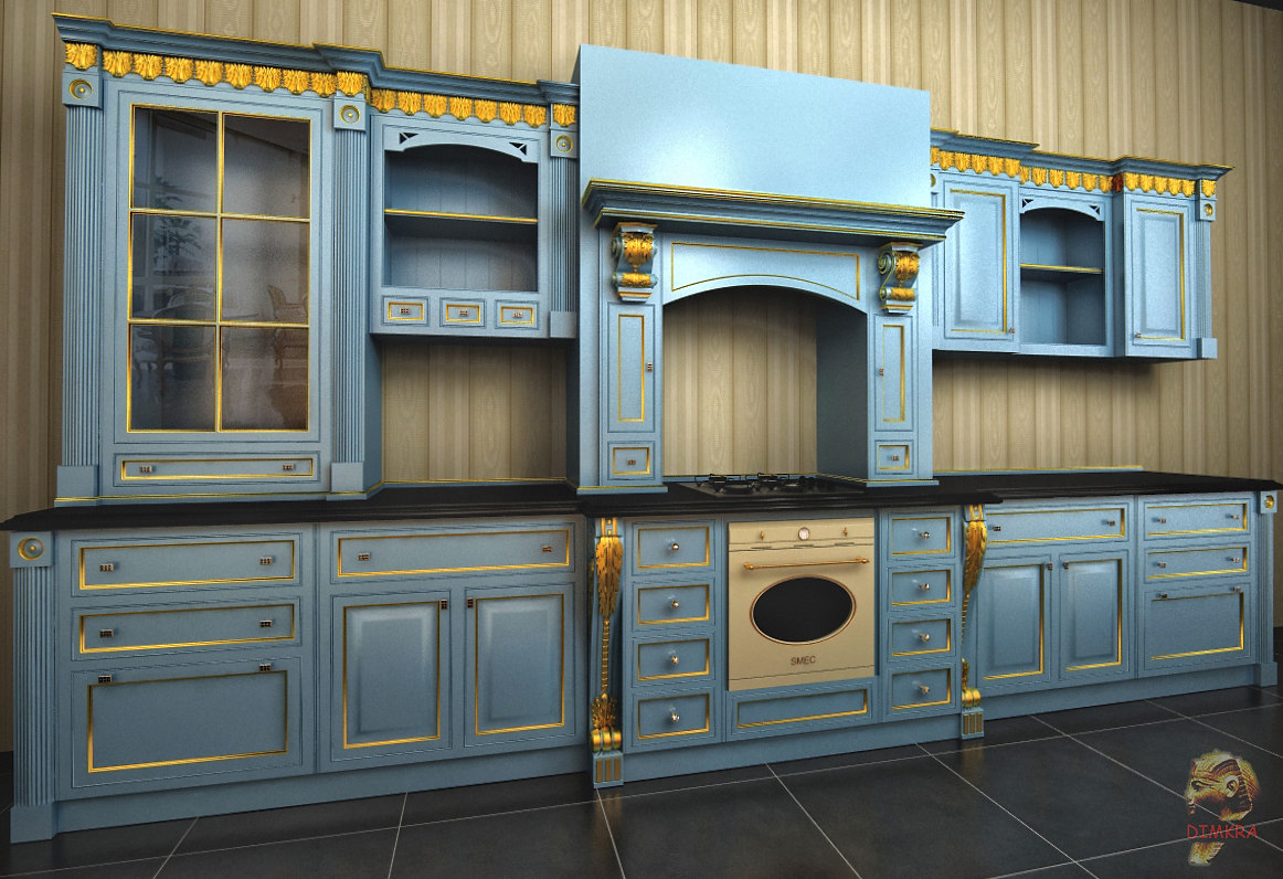 Kitchen Design 3d Model Classic Kitchen Design 3d Model