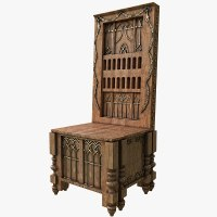 medieval throne 3d model