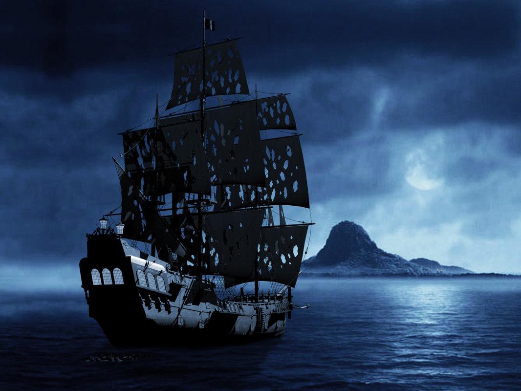 3d Dual Screen Wallpaper Black Pearl Ship 3d 3ds