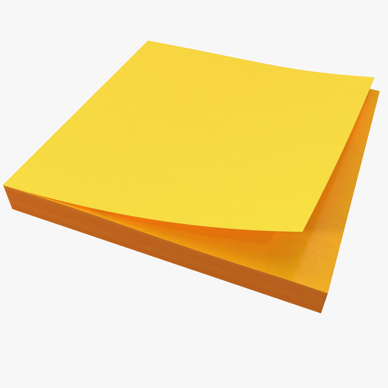 Sticky Note 3D Models for Download TurboSquid - stickey notes