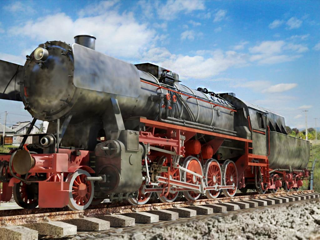 Engine Live 3d Wallpaper German Locomotive Br 52 3d X