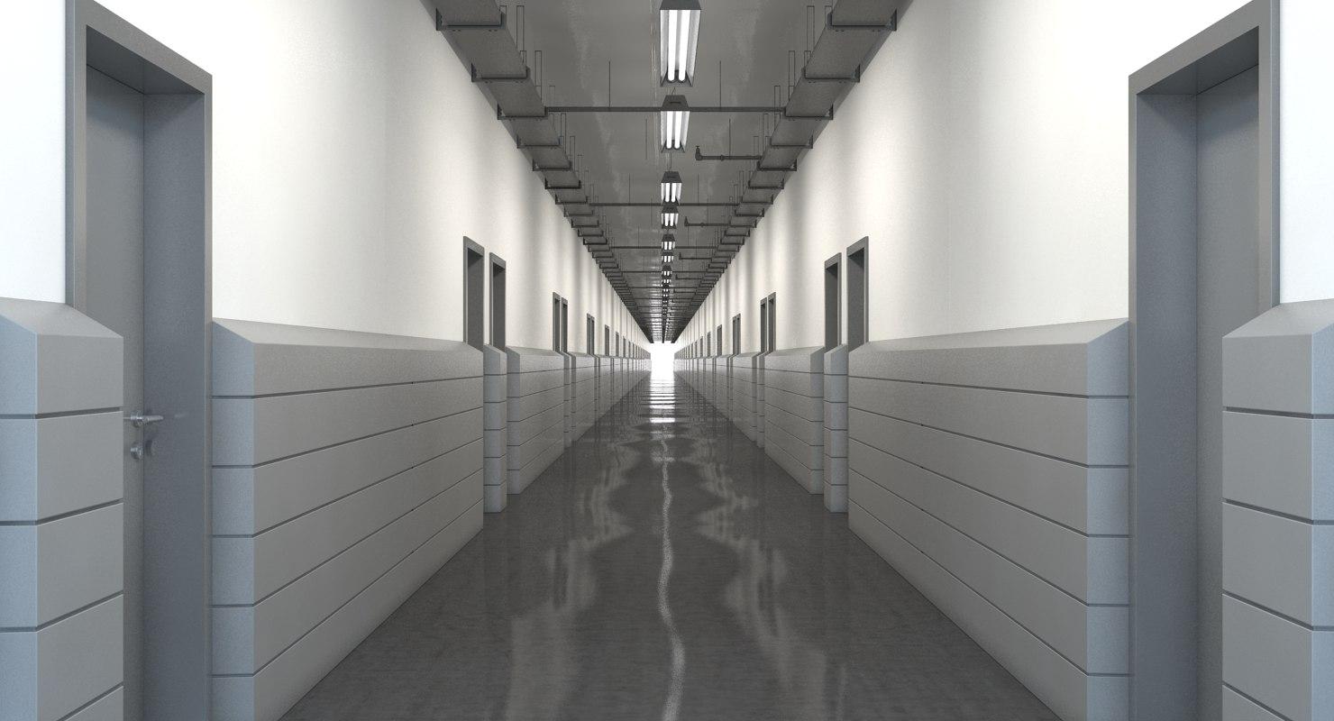 Deco Wallpaper 3d Hallway Realistic 3d Model