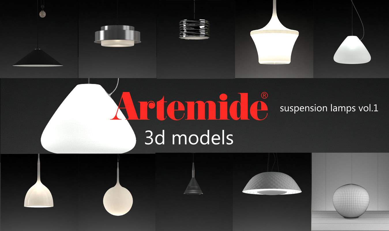 Artemide Suspension Artemide Suspension Lamps Collection Volume 1