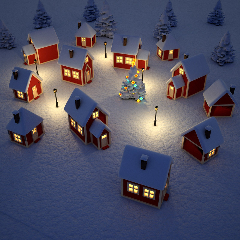Free My 3d Christmas Tree Animated Wallpaper 3d Max Christmas Village