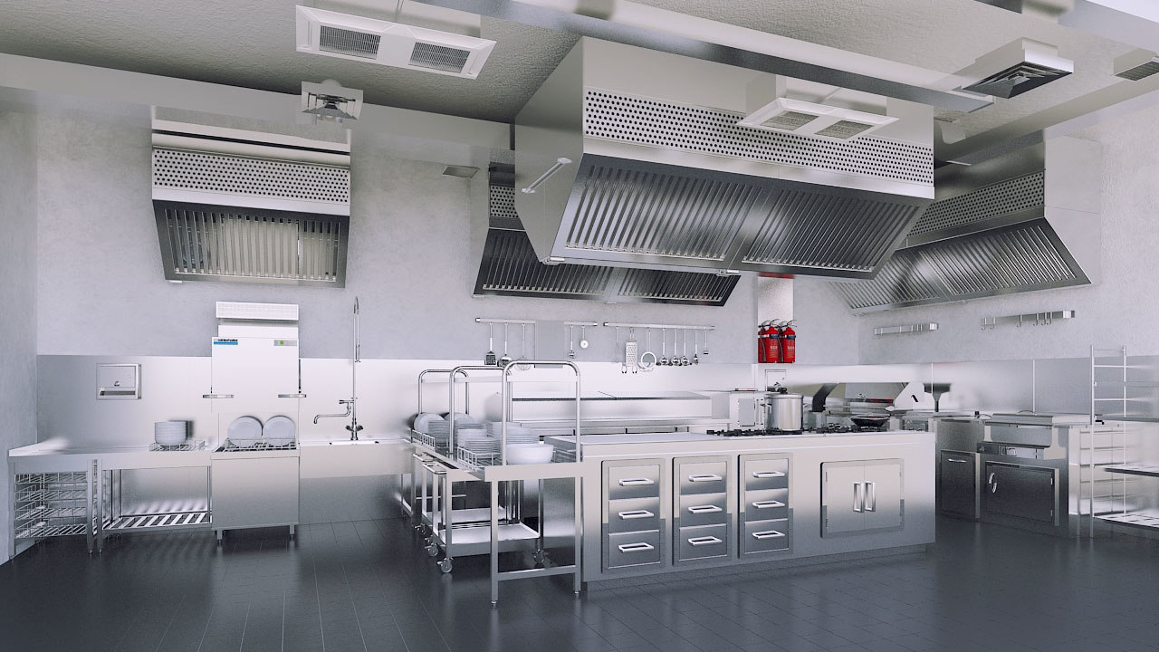 Commercial Kitchen 3d Design 3d Commercial Kitchen Model