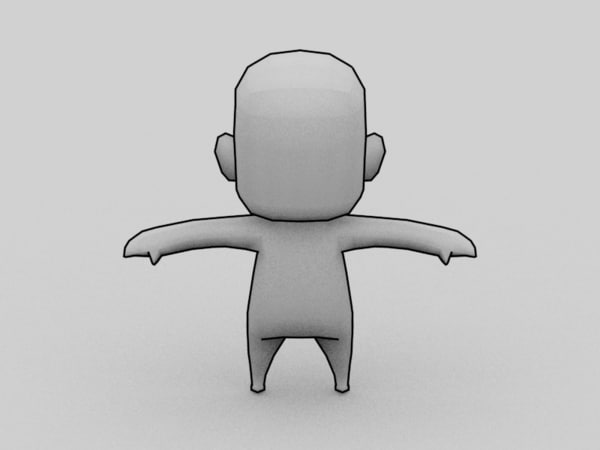 3d anime chibi character template model - character model template