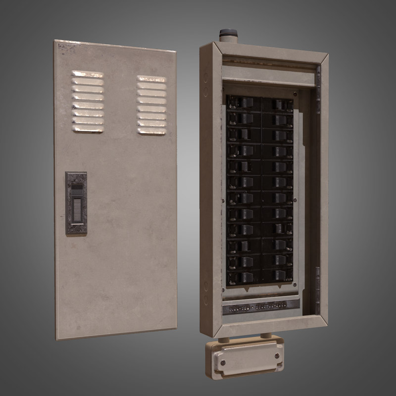3d model electrical fuse box -