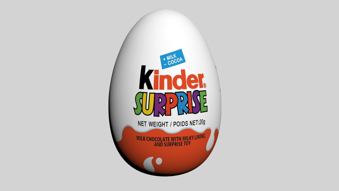 Kinder Egg Review 3d Model Kinder Surprise Egg