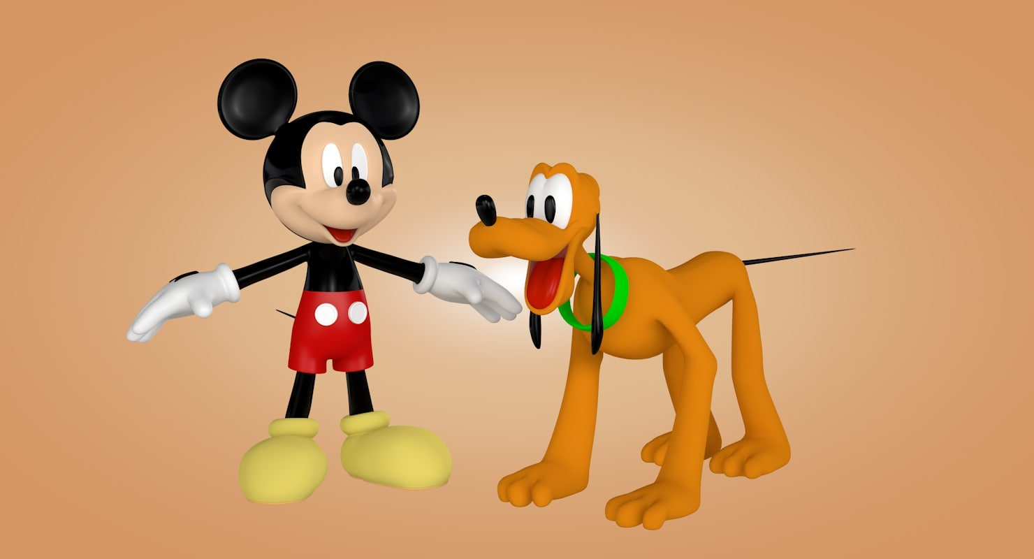 Pluto Mickey Mickey Mouse And Pluto