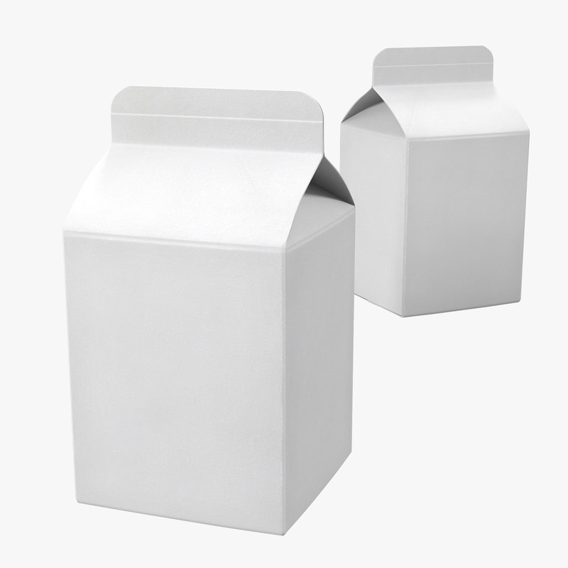 obj pint milk carton generic - Milk Carton Template