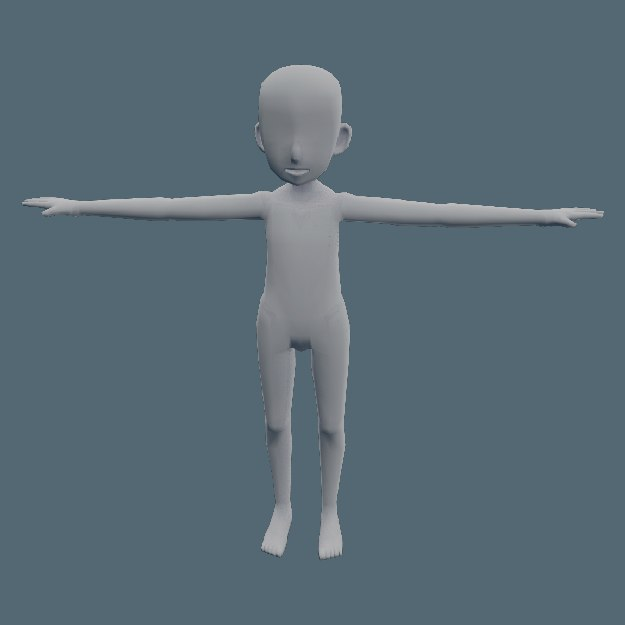 3D anime child character template model - TurboSquid 1346883