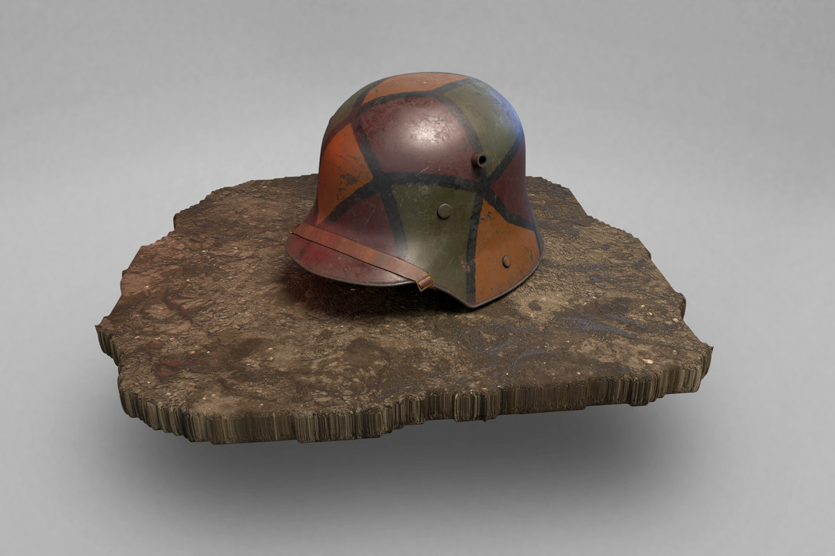 Strahlhelm German Helmet Stahlhelm M1916 3d Model Turbosquid 1358691