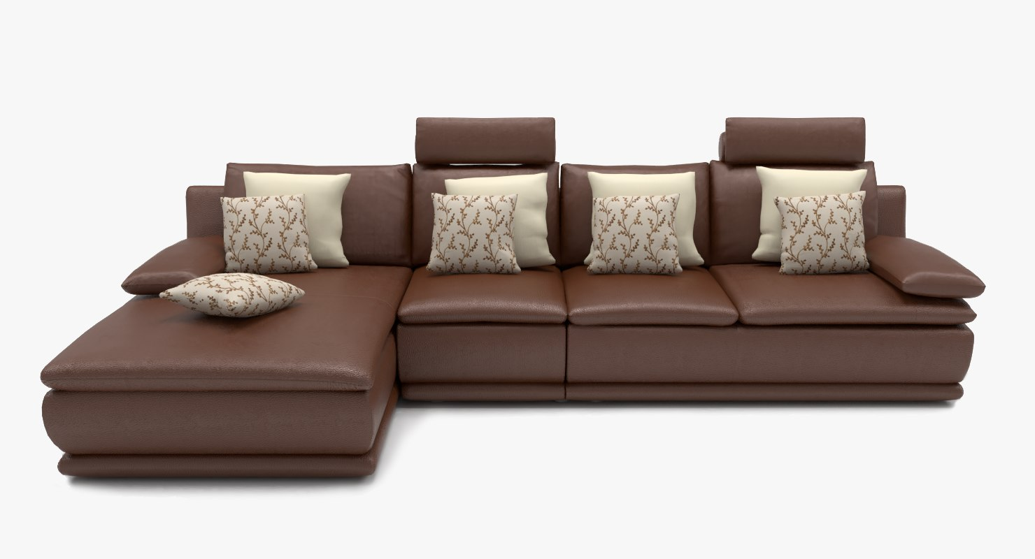 Sofa L Images L Shape Leather Sofa Brown