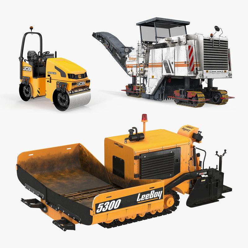 3D road asphalt machinery machine - TurboSquid 1383802