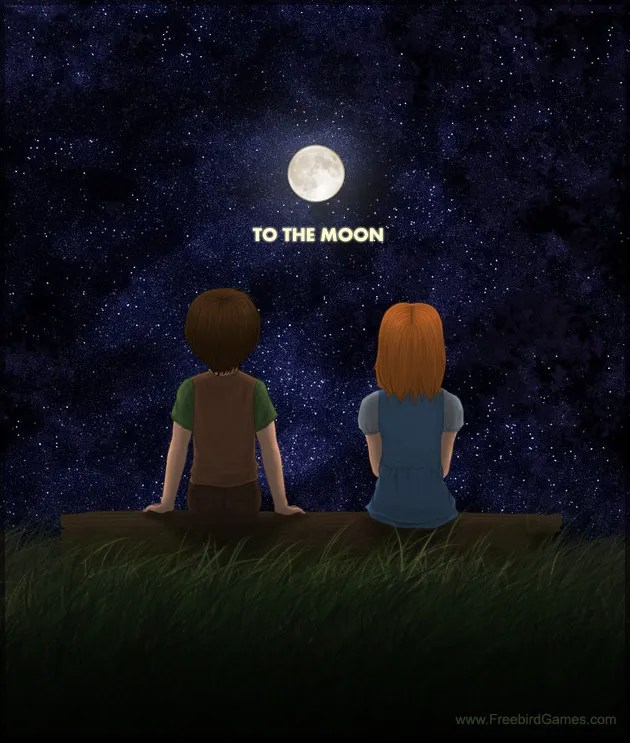 Cut Boy And Girl Wallpaper To The Moon Video Game Tv Tropes