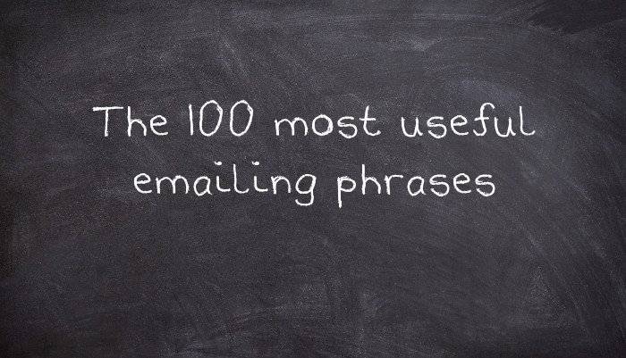 The 100 most useful emailing phrases - UsingEnglish