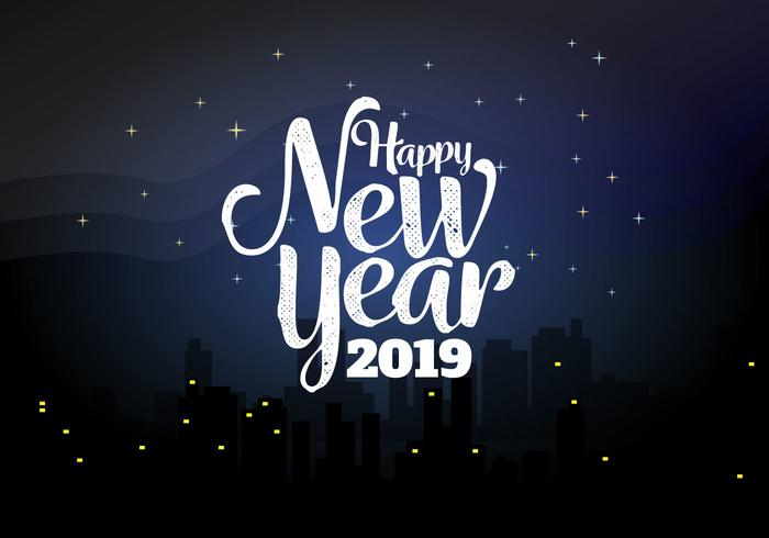 Free Snow Falling Animated Wallpaper Happy New Year 2019 Background Vector Illustration