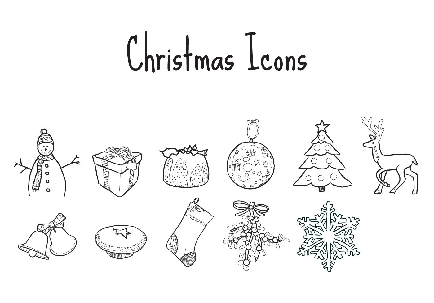 Wordpress Free Icons Free Illustrated Christmas Vector Icons Download Free