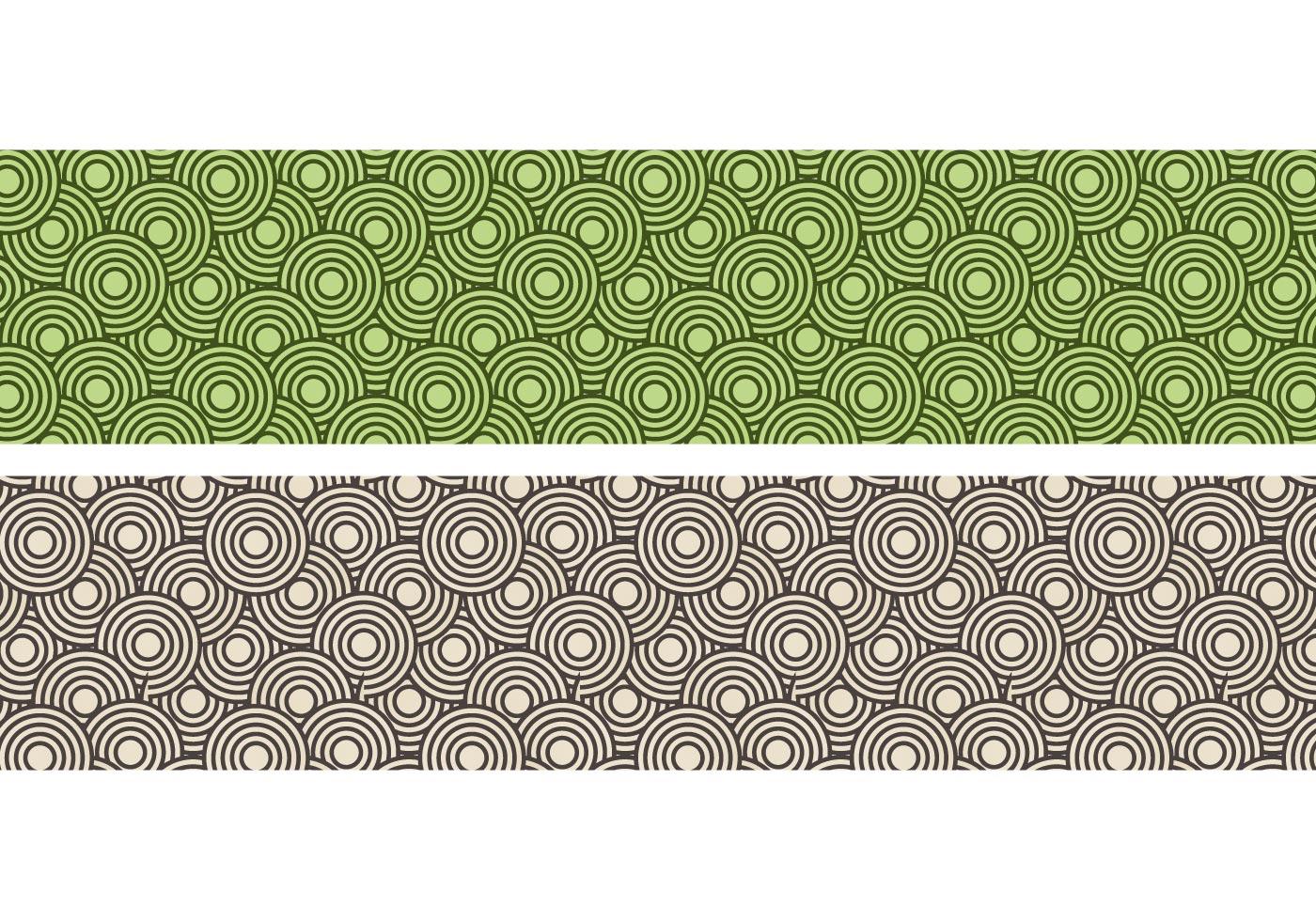 Wallpaper Black Orange Crazy Circles Free Seamless Pattern Download Free Vector