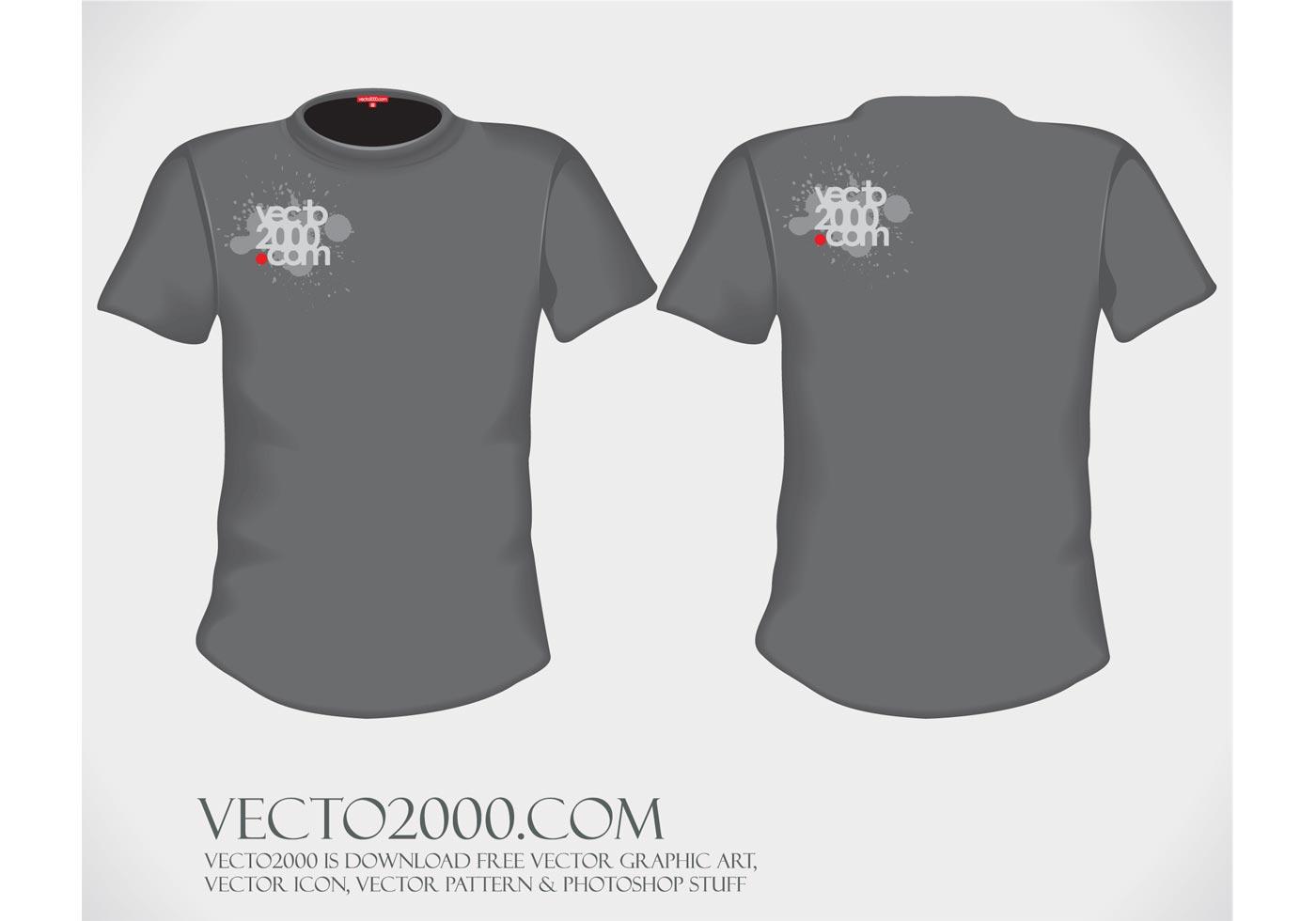 Black t shirt vector ai - Black T Shirt Template For Photoshop Psd Tshirt Vector Black Shirt Download