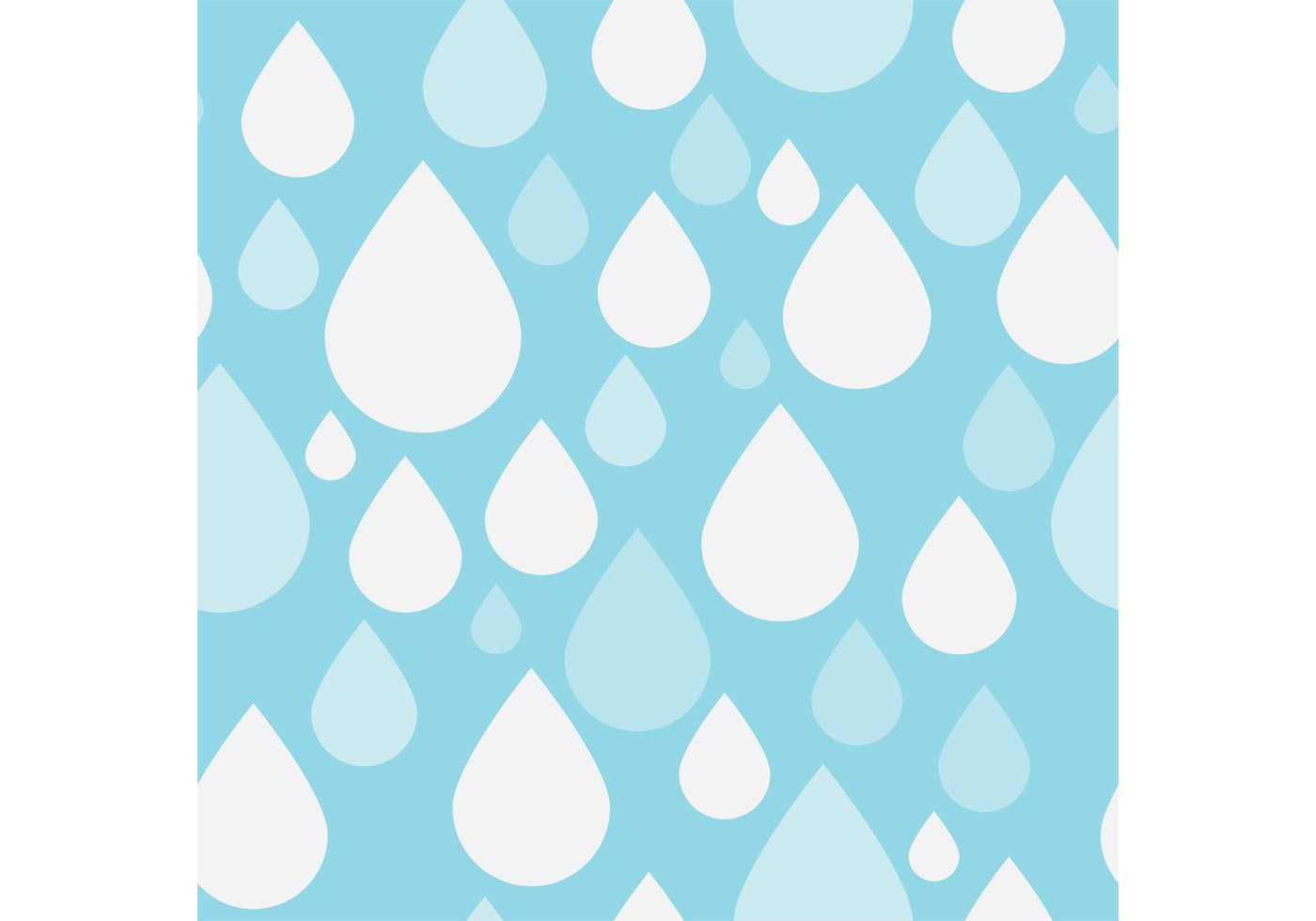 Black And White Polka Dot Wallpaper Border Pattern Vector Of Simple Rain Drops