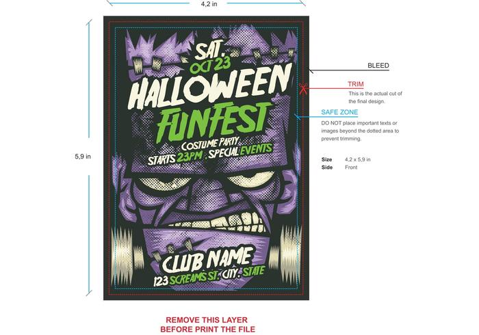 Pumpkin Halloween Flyer Template - Download Free Vector Art, Stock