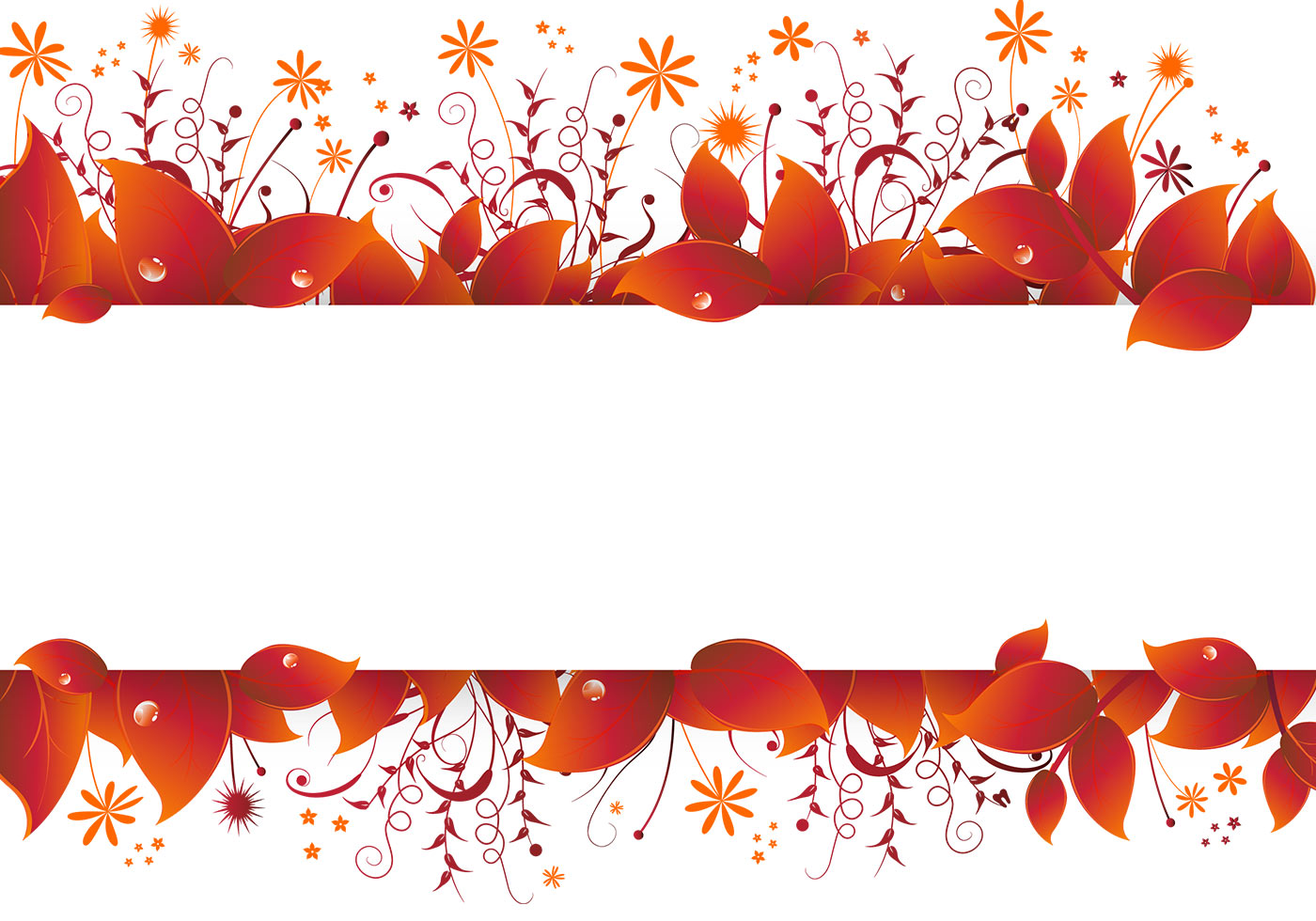 Fall Leaf Pattern Wallpaper Autumn Leaves Banner Vector Download Free Vector Art