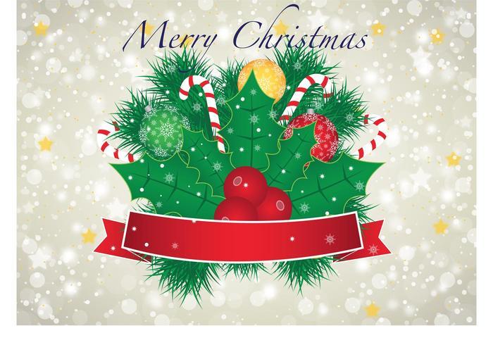 Cute Ribbons Wallpaper Merry Christmas Vector Banner Free Vector Art At Vecteezy