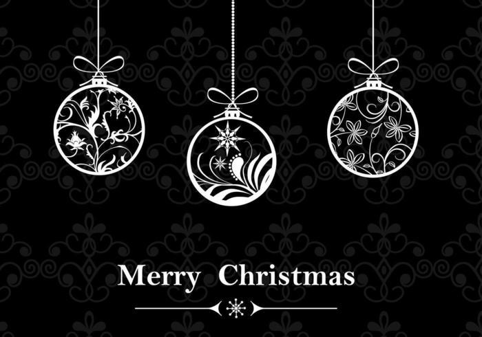 Wallpaper Black And White Damask Negro Y Blanco Adorno De Navidad Wallpaper Vector
