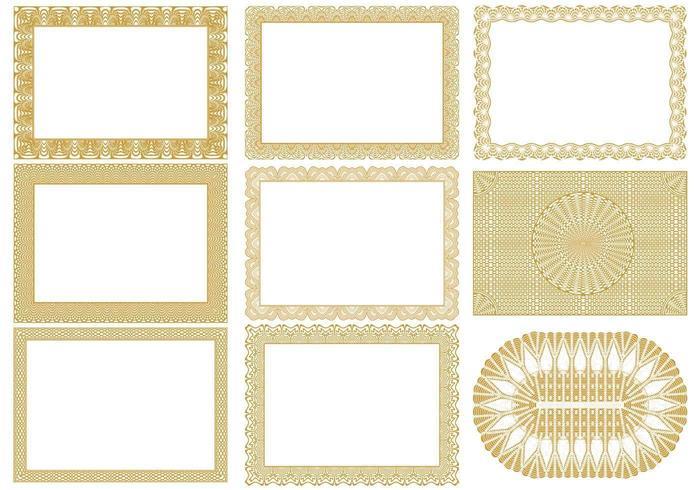 Certificate Border Vectors Pack - Download Free Vector Art, Stock