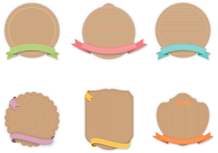 Craft Label Vector Pack - Download Free Vector Art, Stock Graphics