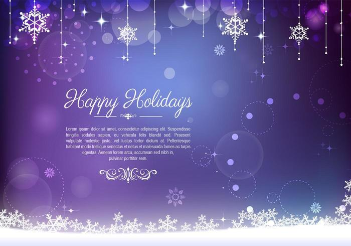Decorative Purple Holiday Background Vector - Download Free Vector
