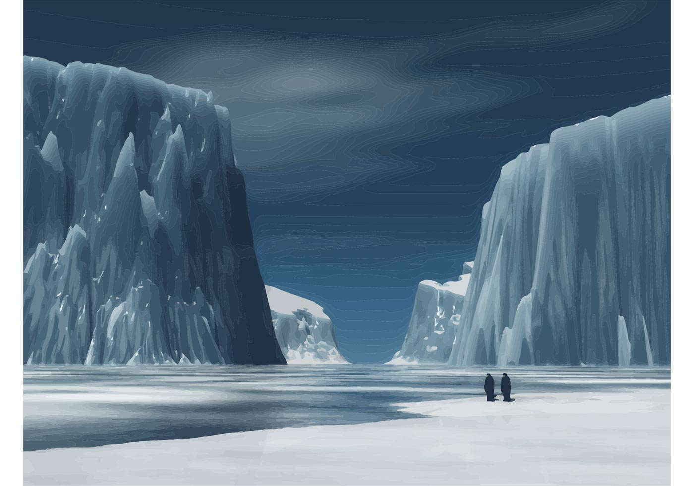 Free Winter Animal Wallpaper Iceberg Download Free Vector Art Stock Graphics Amp Images