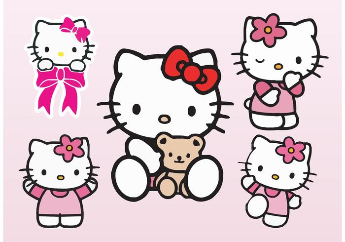 Cute Wallpapers Of Kittens And Puppies Hello Kitty Vectors Download Free Vector Art Stock
