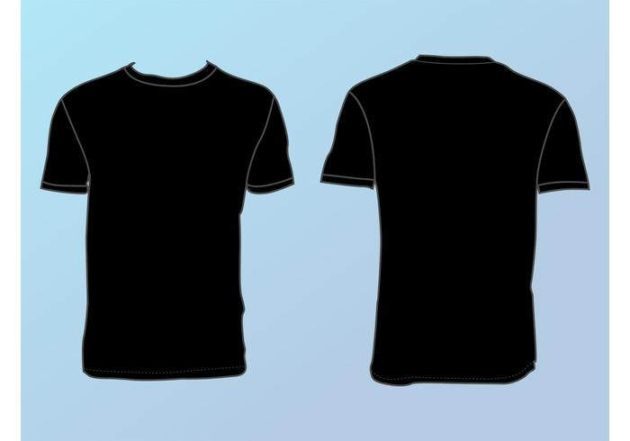 Basic T-Shirt Template - Download Free Vector Art, Stock Graphics