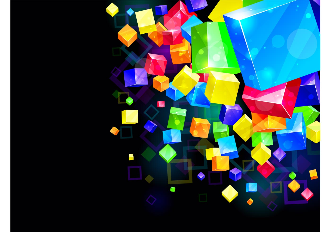 Cubes 3d Wallpaper Colorful Cubes Background Download Free Vector Art