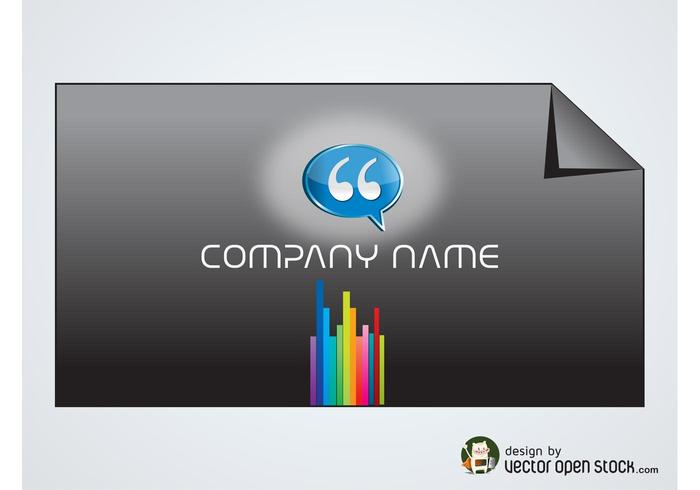 Rainbow Business Card - Download Free Vector Art, Stock Graphics