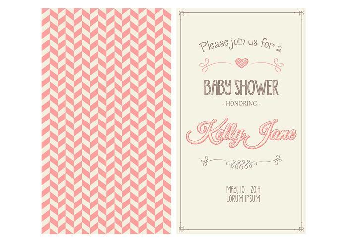 Baby Girl Shower Invitation Vector - Download Free Vector Art, Stock - download free baby shower invitations