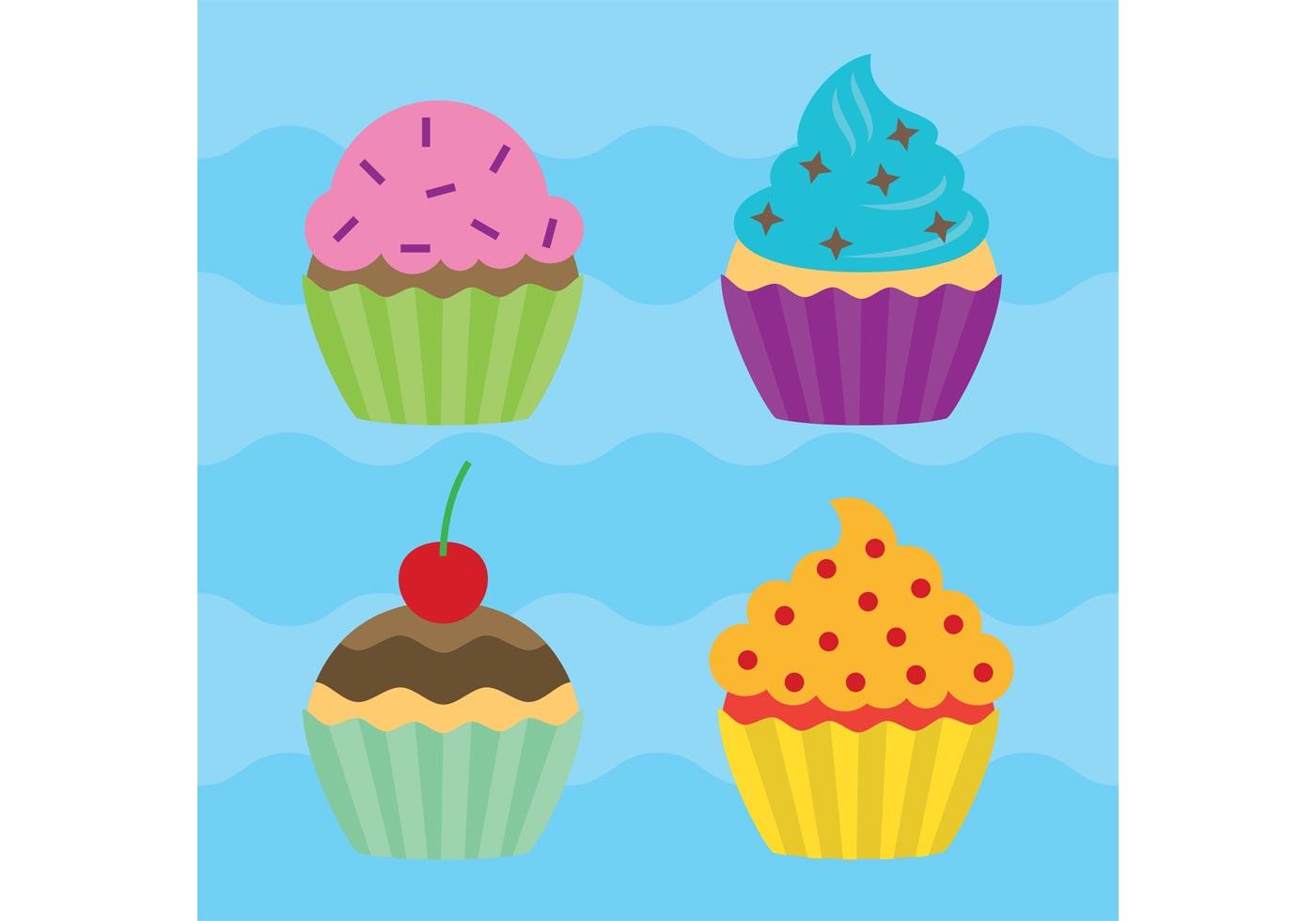 Cute Bakery Wallpaper Cupcake Vectors Download Free Vector Art Stock Graphics
