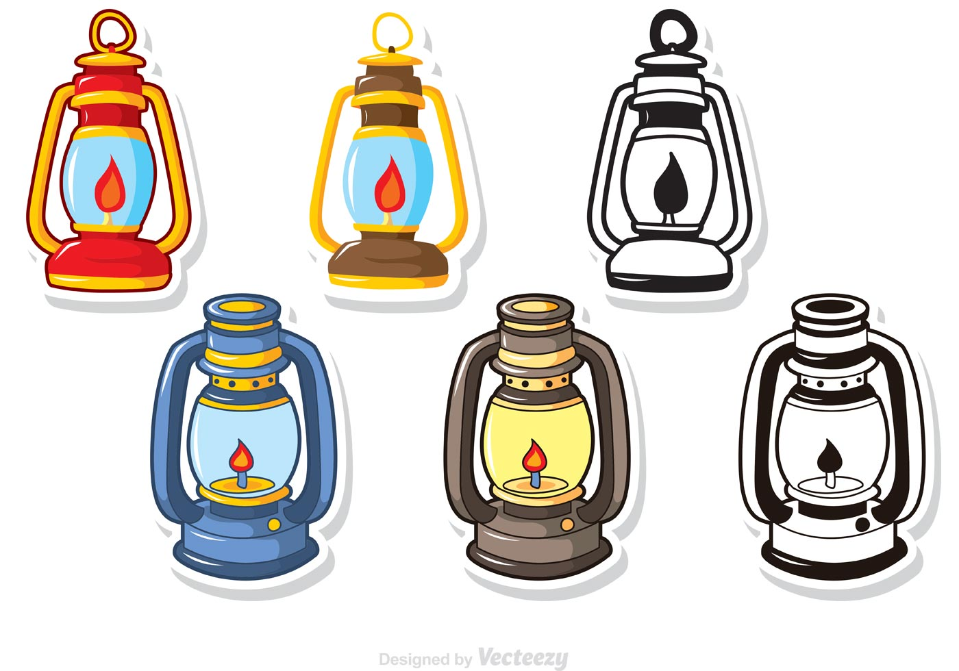 Glass Lamp Vector Camping Lantern Free Vector Art 90 Free Downloads