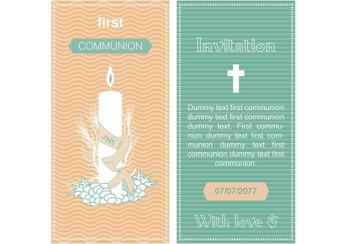 Vector de la invitación de la primera comunión - Descargue Gráficos - plantillas para invitaciones gratis
