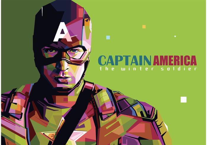 Modern Girl Wallpaper Free Download Captain America Vector Portrait Download Free Vector Art