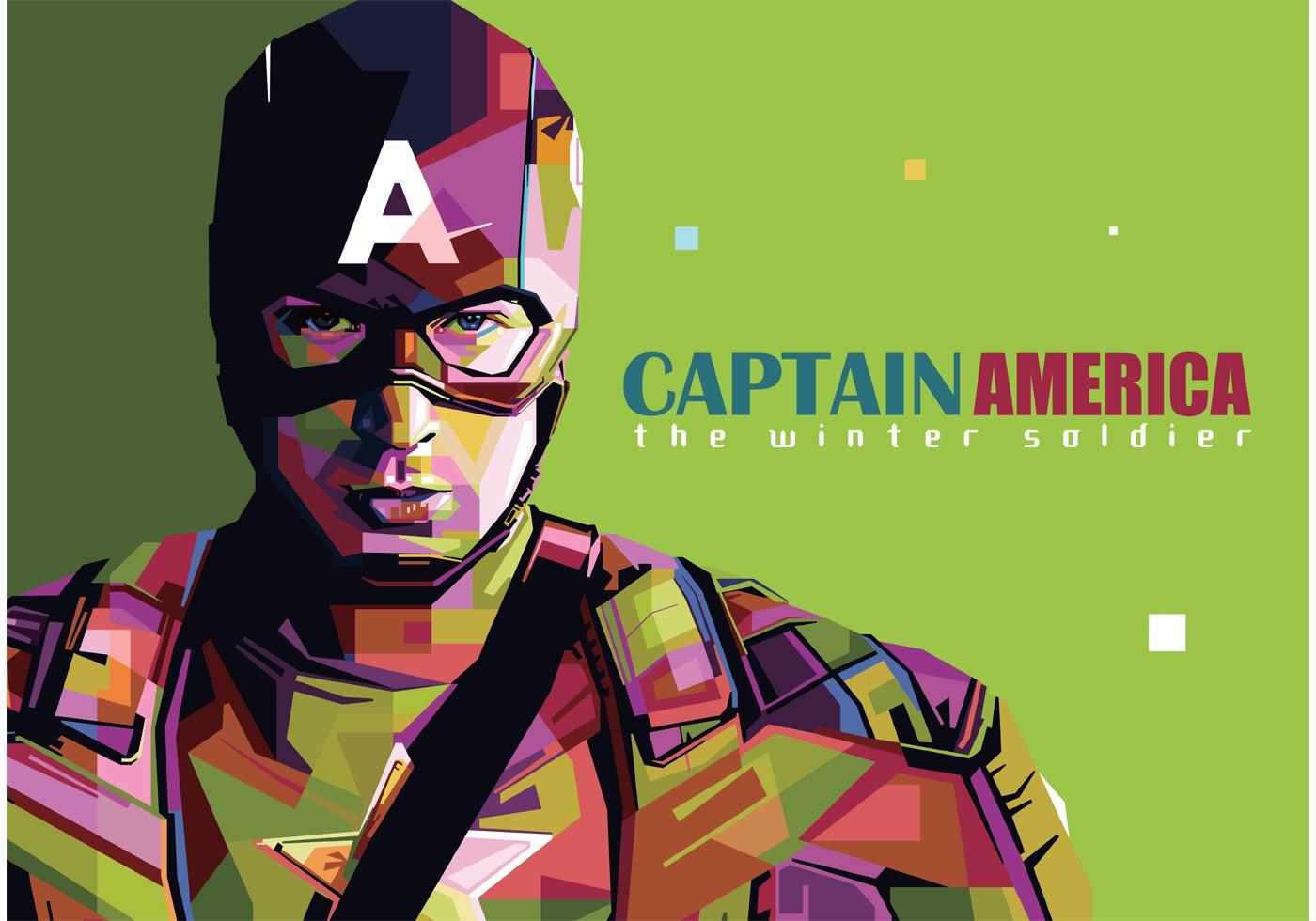 Abstract Girl Face Wallpaper Captain America Vector Portrait Download Free Vector Art