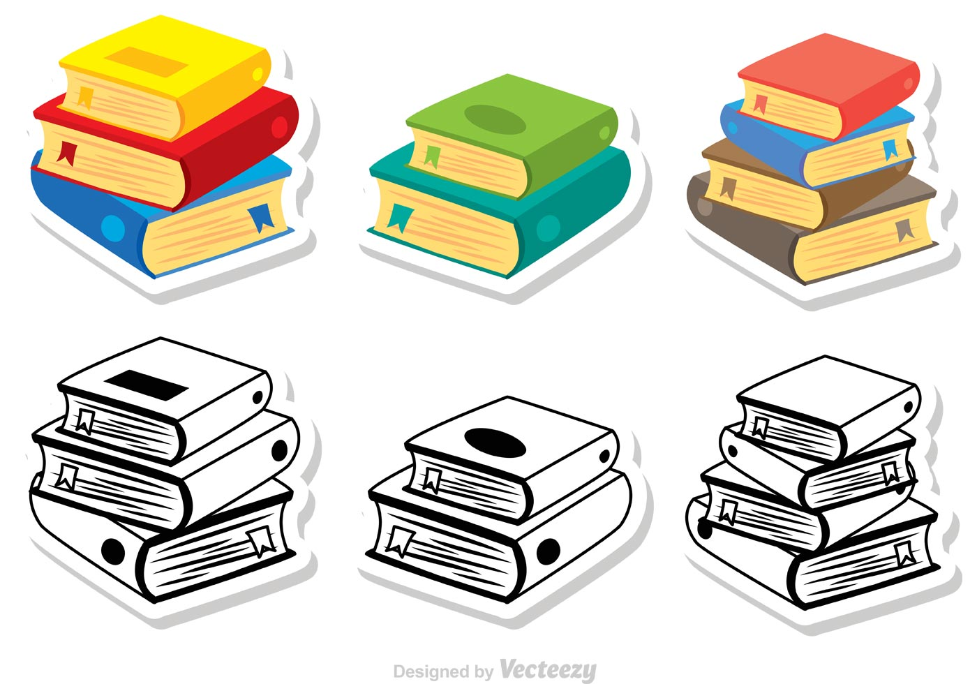 Libro Vector Stack Of Books 2539 Free Downloads
