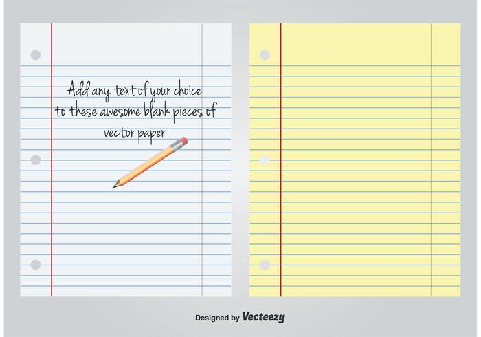 White and Yellow Lined Blank Paper - Download Free Vector Art, Stock