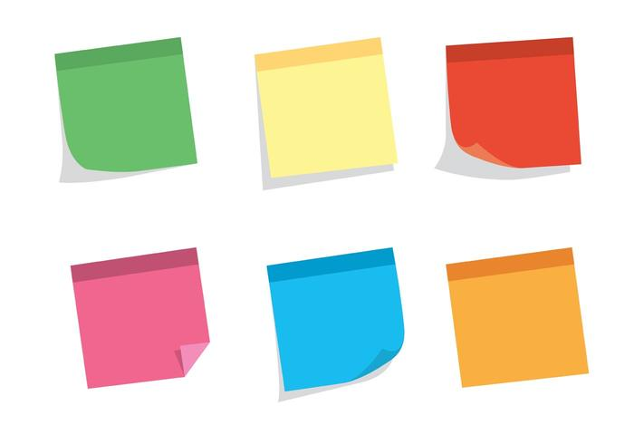 Free Vector Sticky Note Set - Download Free Vector Art, Stock