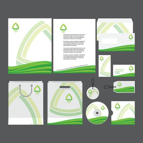 Green Company Profile Template - Download Free Vector Art, Stock