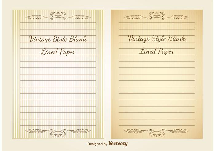 Blank Vintage Lined Paper - Download Free Vector Art, Stock Graphics