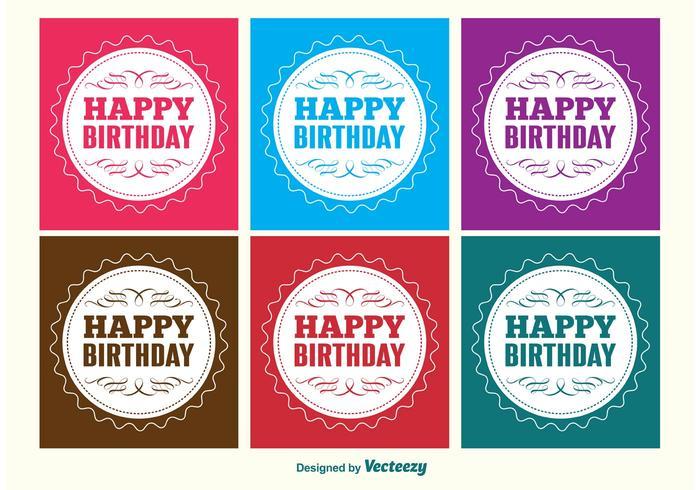 Cute Cupcake Wallpaper Happy Birthday Labels Download Free Vector Art Stock