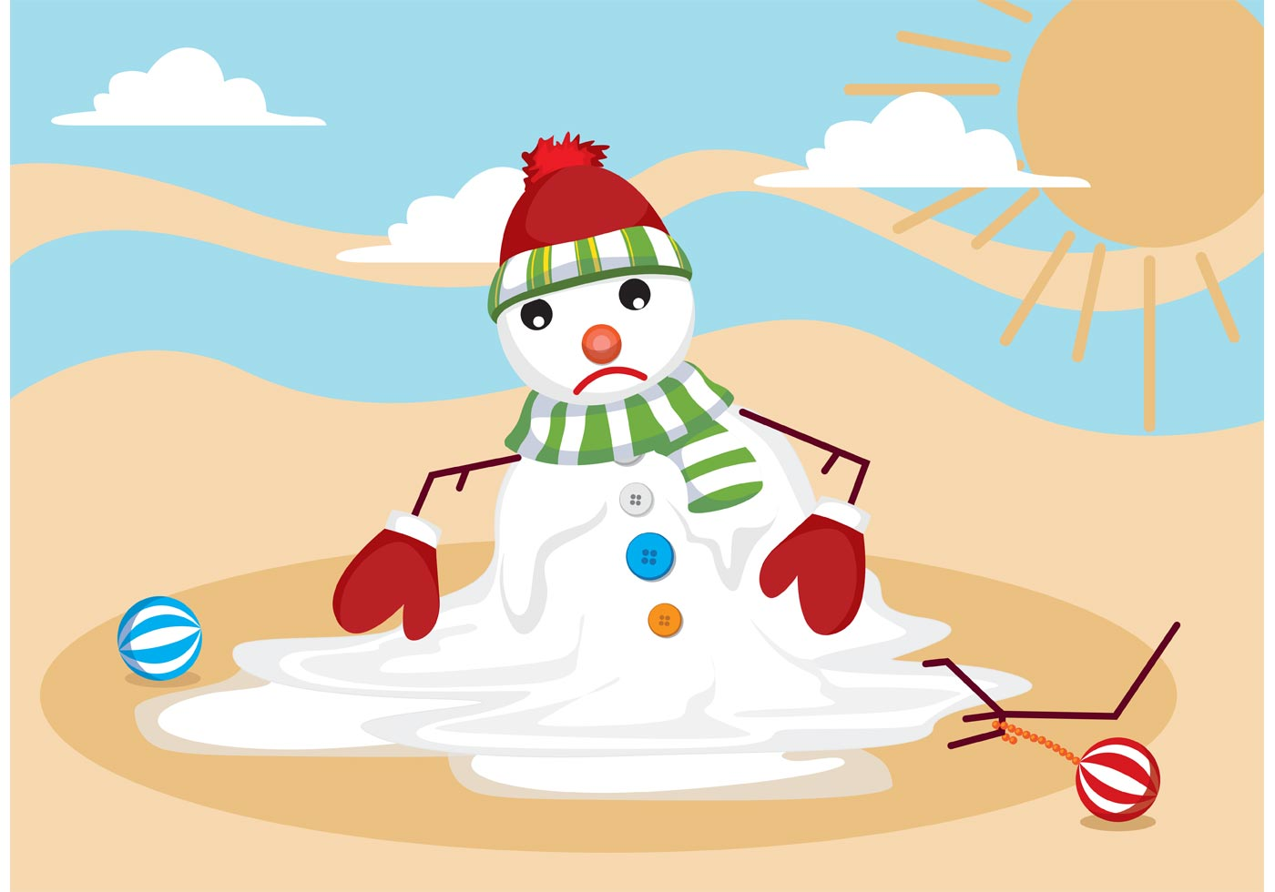 Melting Snow Man Vector Download Free Vectors Clipart Graphics Vector Art